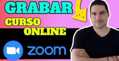 como usar zoom para grabar cursos online